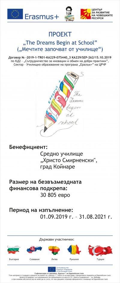 """Еразъм +, Проект """"The Dreams Begin at School"""" (""""Мечтите започват от училище"""") - Изображение 4"""